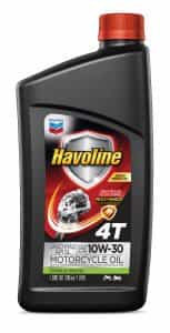Chevron Havoline Motorcycle Oil 4T With Multi Shield® Technology  SAE 10W-30 JASO MA2 API SL
