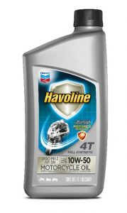 Havoline® Full Synthetic Motorcycle Oil 4T  SAE 10W-50 JASO MA2