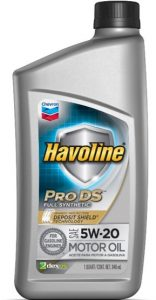 Havoline® Prodstm ™ Full Synthetic Motor Oil  SAE 5W-20 API SN