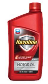 Havoline ® Motor Oil  SAE 5W-30, 10W-30, 10W-40, 20W-50 API SN