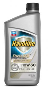 Havoline® Prodstm ™ Full Synthetic Motor Oil  SAE 10W-30 API SN