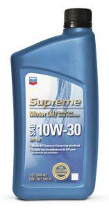 Chevron Supreme Motor Oil SAE 10W-30, 10W-40, 20W-50 API SN