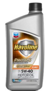 Havoline® Prods® Full Synthetic Motor Oil Euro SAE 5W-40 API SN